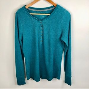 ⚡️Natural Reflections Teal Henley Shirt Medium